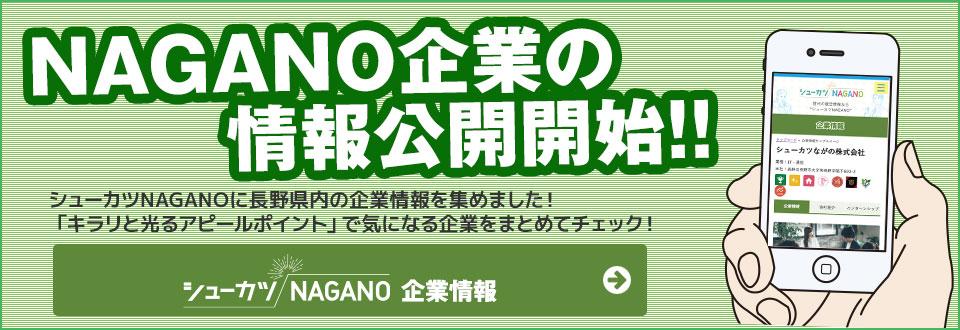 長野県内企業の情報公開開始