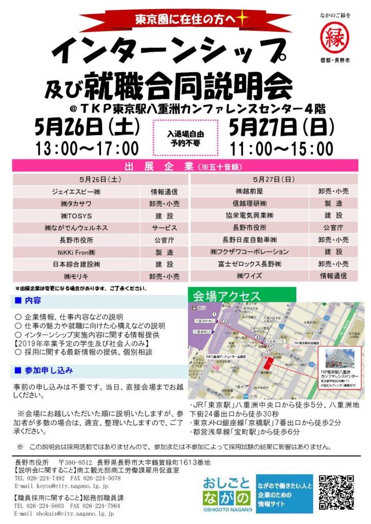 インターンシップ・就職合同説明会(2日目)