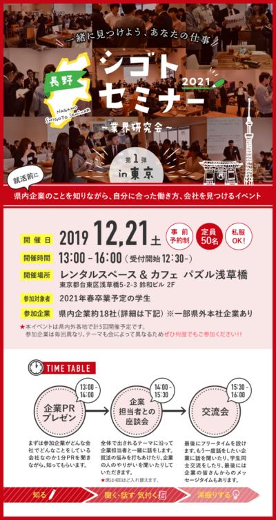 長野シゴトセミナーin東京~業界研究会~ 第一弾