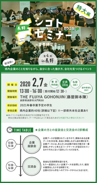 長野シゴトセミナーin長野~業界研究会~特大編!