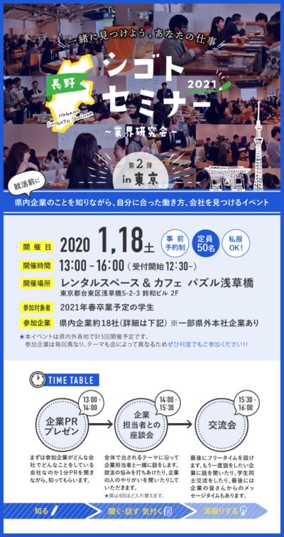 長野シゴトセミナーin東京~業界研究会~ 第二弾