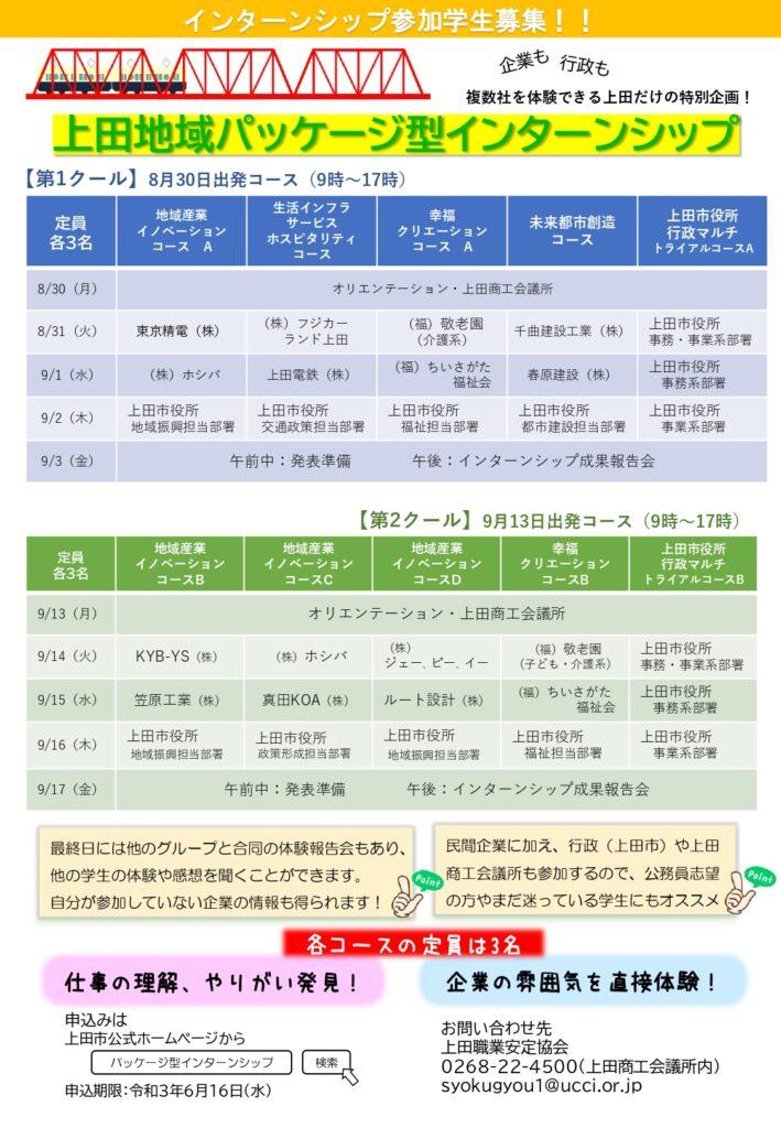上田地域パッケージ型インターンシップ